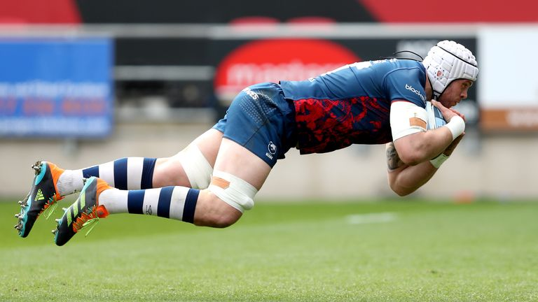 Dave Attwood was among the try scorers as Bristol snatched victory at the death to extend their lead at the top of the Premiership table