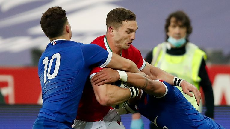 George North impressed again in the centre for Wales