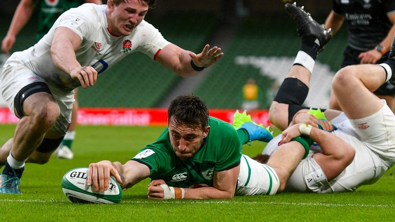 Conan scored for Ireland as they beat England two weeks ago