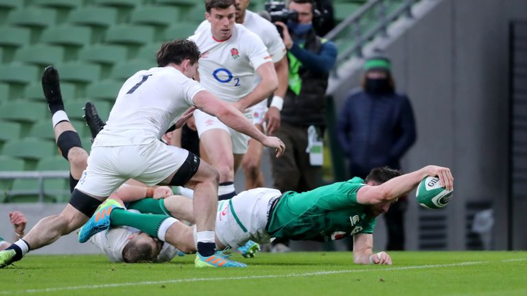 Jack Conan was among the try-scorers for Ireland