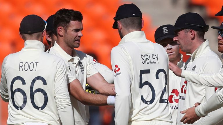 James Anderson struck in his first over to dismiss India's Shubman Gill for a duck (Associated Press)