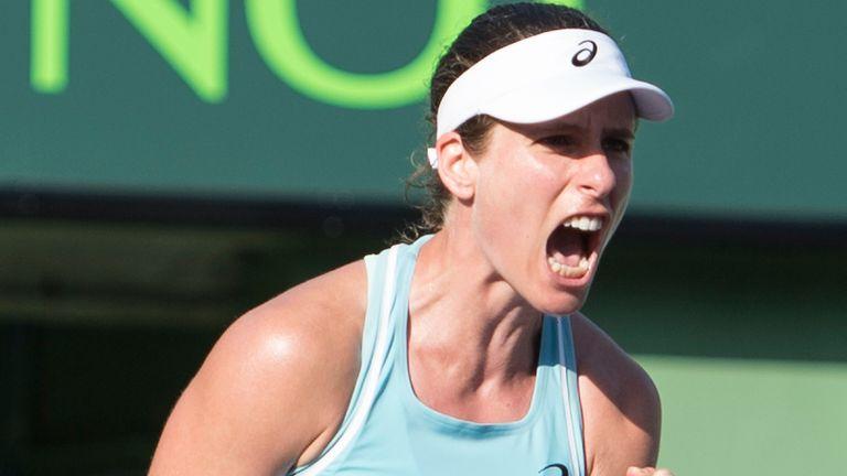 Konta anotó una victoria muy necesaria en el Miami Open (Cal Sport Media a través de AP Images)