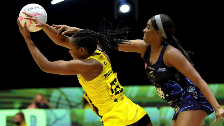 Joyce Mvula starred as Manchester Thunder beat Severn Stars to stay unbeaten (Image courtesy of Ben Lumley)