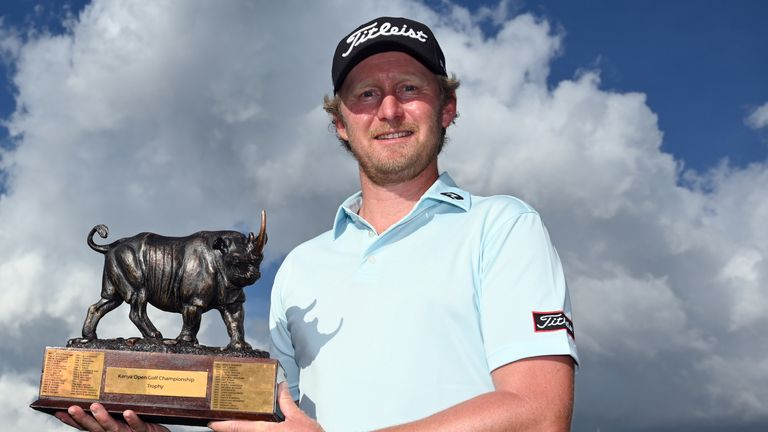 Justin Harding claimed a two-shot win in Kenya