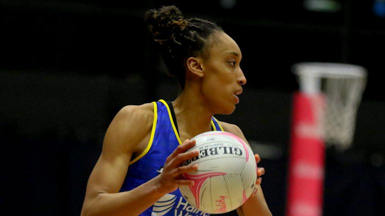 Layla Guscoth showed her class for Team Bath Netball during their victory over London Pulse (Image Credit - Ben Lumley)