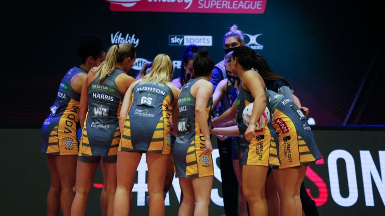 Leeds Rhinos Netball are navigating their way through their first season in the competition (Image Credit - Ben Lumley)
