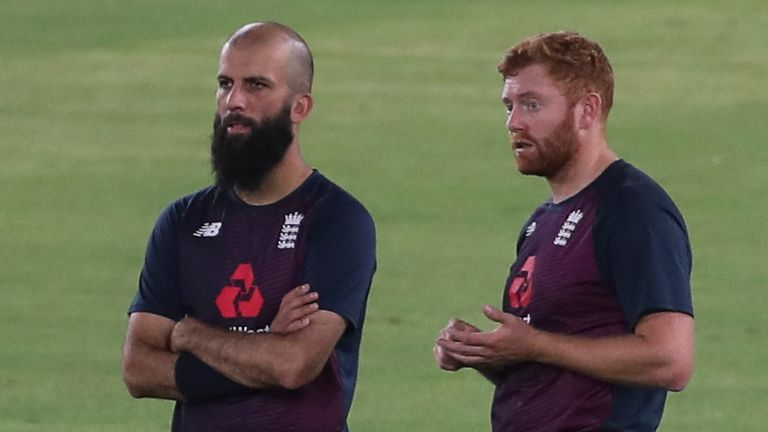 Moeen Ali (left) could come into the England XI on a spinning pitch - but would Sam Curran make way?