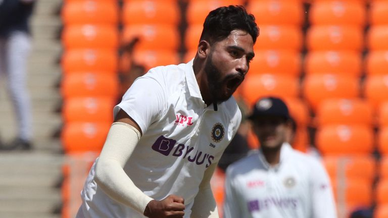 Mohammed Siraj impressed for India, finding sharp movement off the pitch to dismiss Joe Root and Jonny Bairstow (Pic credit - BCCI)