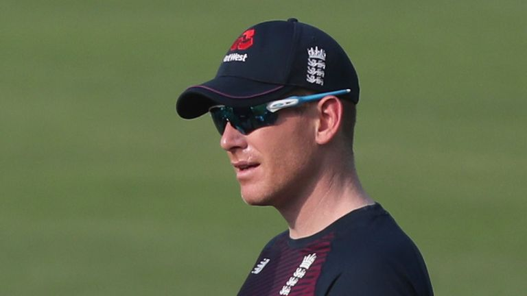 Eoin Morgan went through a fielding drill during training on Thursday and afterwards declared himself unfit