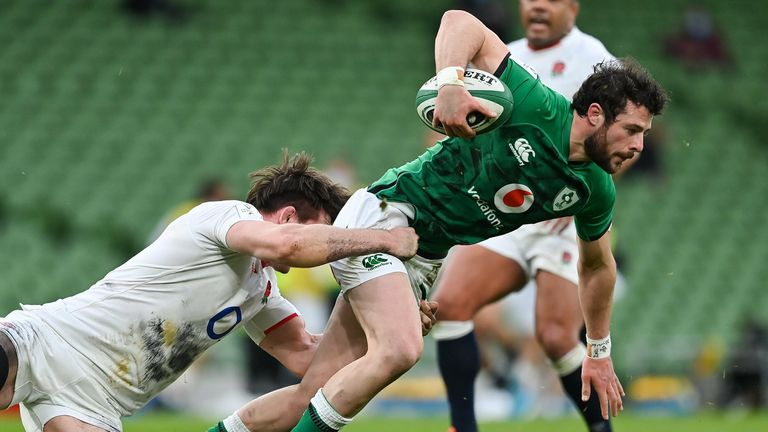 Robbie Henshaw was named man of the match in Ireland's win over England