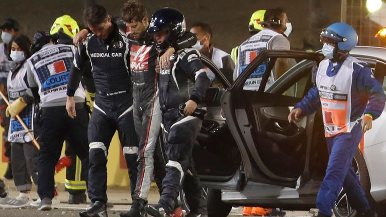 Romain Grosjean crash results released by FIA with fierce Bahrain GP crash measured at 67G