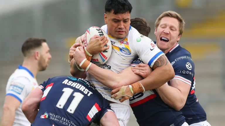 Zane Tetevano proved a handful for the Wakefield defence