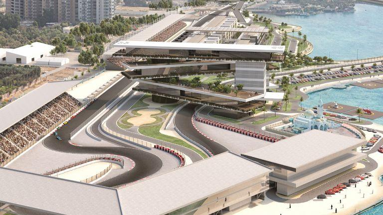A CGI image of the new Saudi Arabian F1 circuit in Jeddah. Formula 1 image