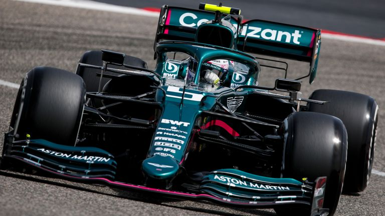 Vettel drives Aston Martin's first F1 car in 61 years, the AMR21