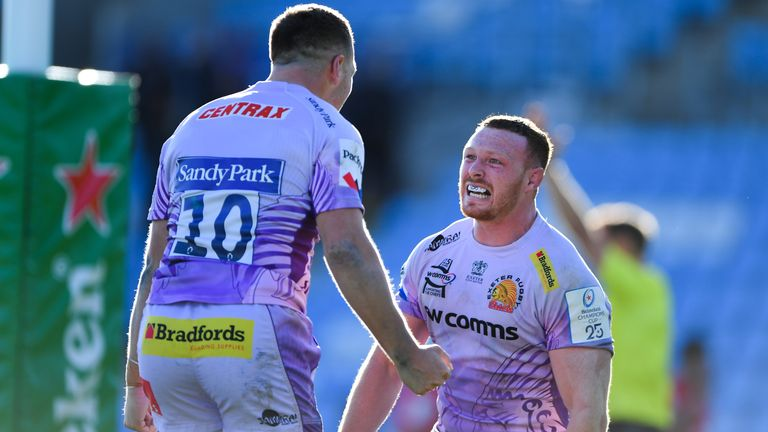 Exeter will hope to reach another Premiership final, which clashes with the Lions' warm-up game against Japan