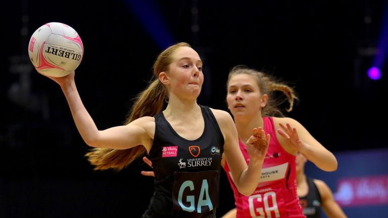 Surrey Storm's 16-year-old GA, Sophie Kelly, is one of a number of young players who have excelled so far (Image Credit - Ben Lumley)