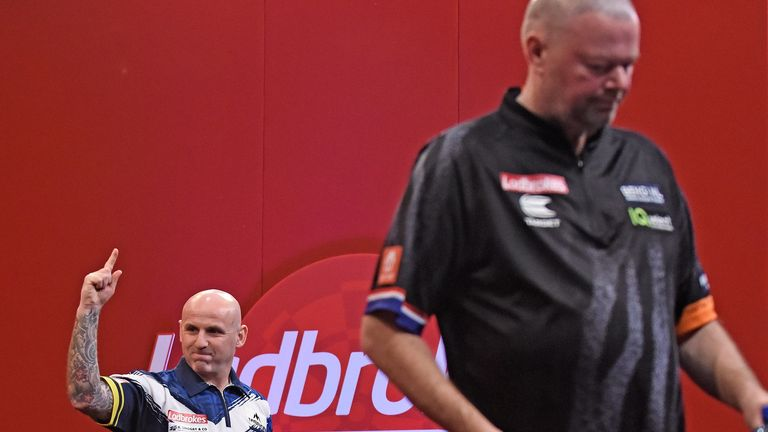 Van Barneveld's big-stage return ended in defeat against Soutar, who is relishing the chance to pit his wits against the world's best