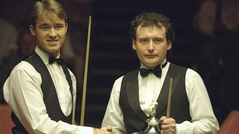 Stephen Hendry (left) and Jimmy White (right) will meet in the first qualifying round of the World Snooker Championship
