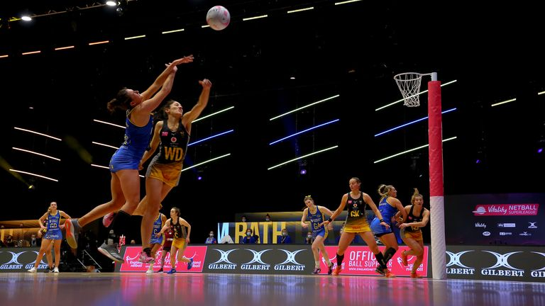 Team Bath Netball are relishing their challenging start to the 2021 season (Image Credit - Ben Lumley)
