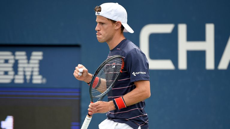 Diego Schwartzman beat fellow Argentine Francisco Cerundolo to win an ATP title in his homeland for the first time (Mike Lawrence/USTA via AP)