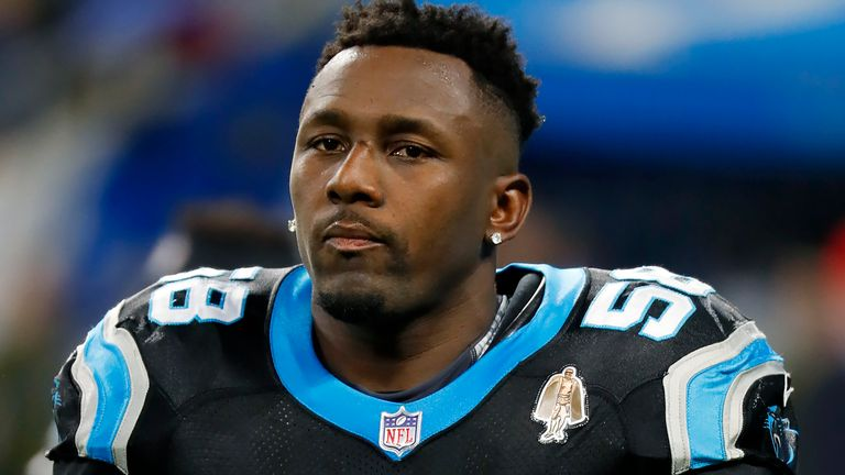 The Panthers selected Thomas Davis with the 14th overall pick in the 2005 NFL draft