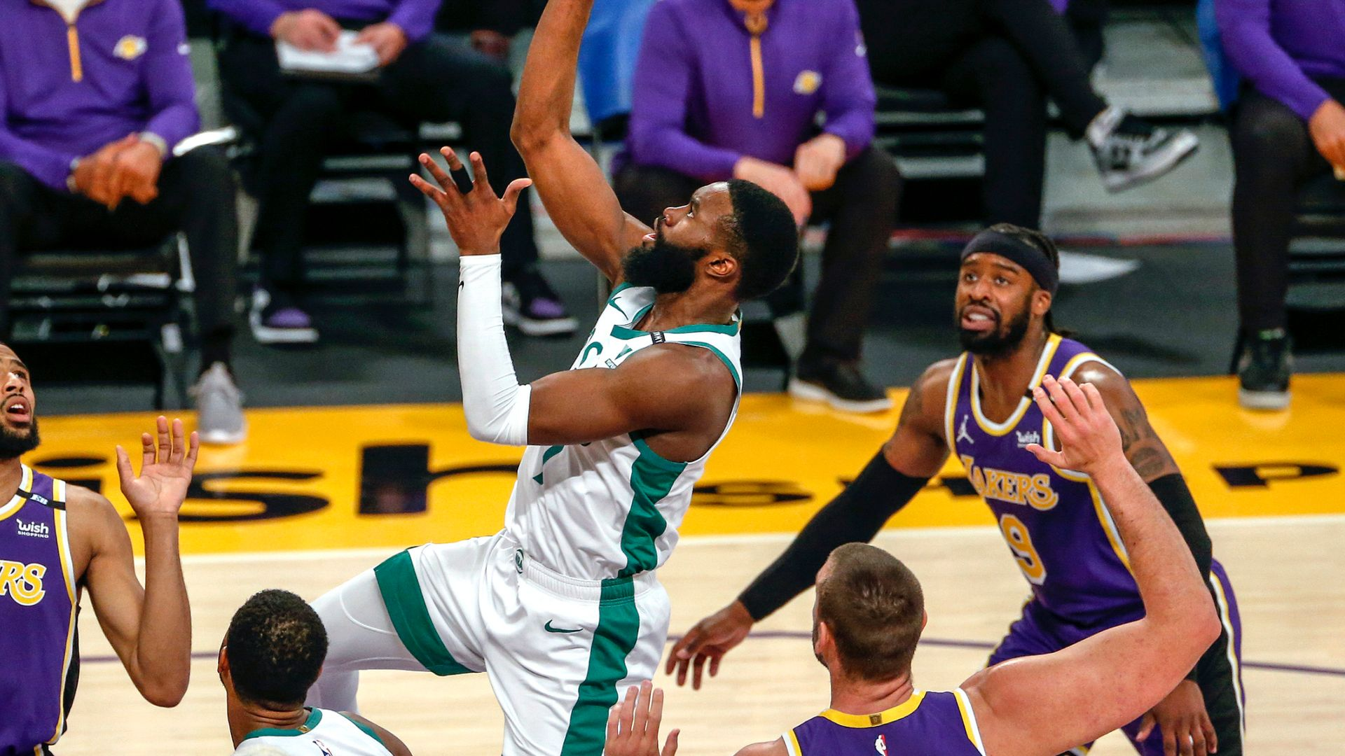 Red-hot Celtics too strong for Lakers