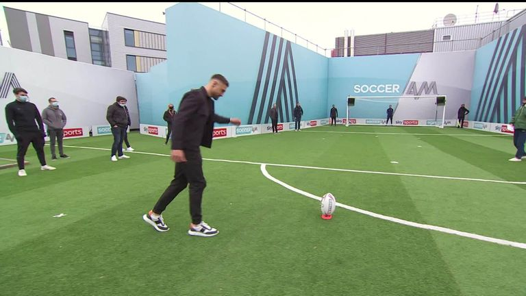 Makinson took on a special challenge during a recent appearance on Soccer AM