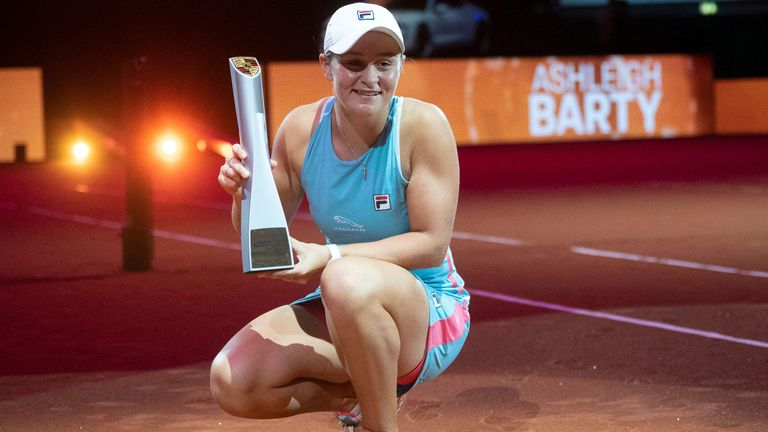 Ashleigh Barty won the singles and doubles in Stuttgart