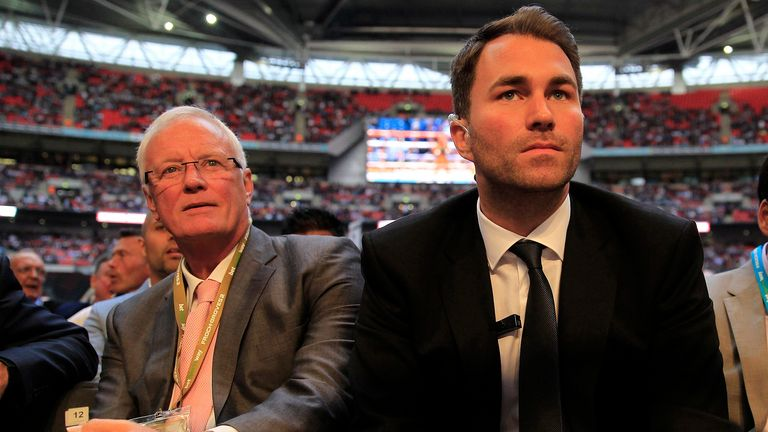 Eddie Hearn will take overall responsibility for the entire group from his father