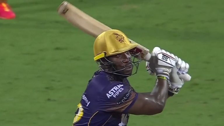 Andre Russell top-scored for Kolkata Knight Riders with 31 from 20 balls