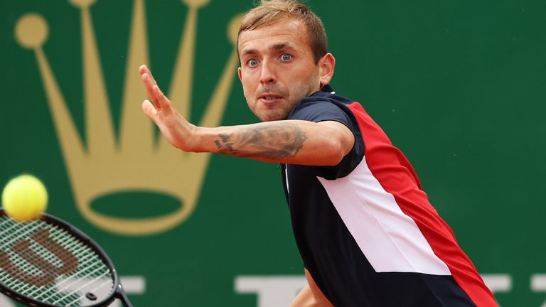Dan Evans was held up by rain at the Monte Carlo Masters