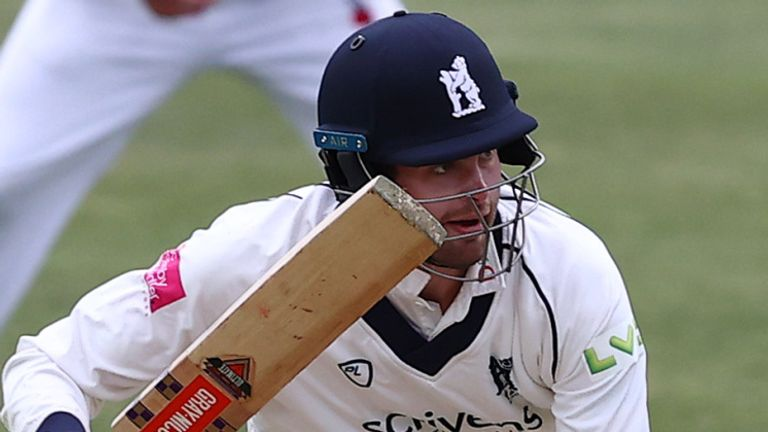 Opener Dom Sibley in action for Warwickshire in the County Championship fixture against Derbyshire at Edgbaston at the start of April
