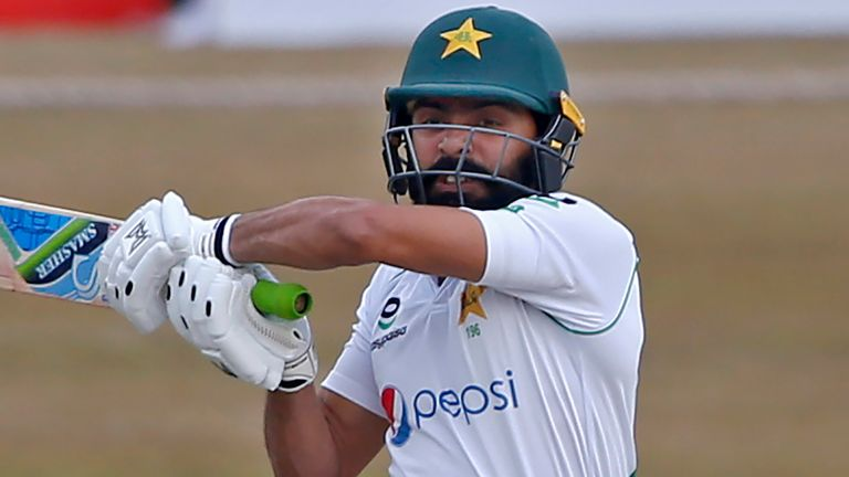 Fawad Alam has hit 16 boundaries in his fourth Test hundred for Pakistan