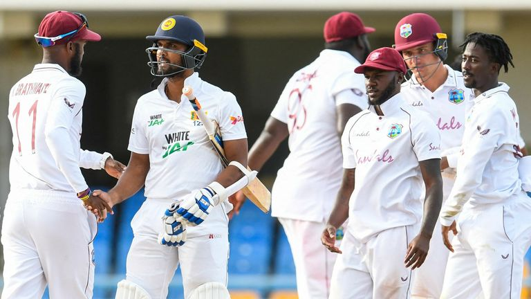 West Indies and Sri Lanka shake hands on a draw as the series finishes all square