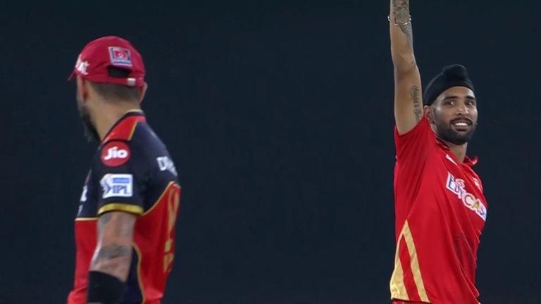 Harpreet Brar dismissed Virat Kohli, Glenn Maxwell and AB de Villiers in his first game of the IPL season