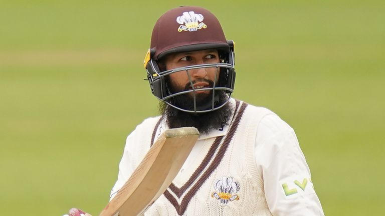 Hashim Amla scored a double century as Surrey dominated Hampshire at The Kia Oval