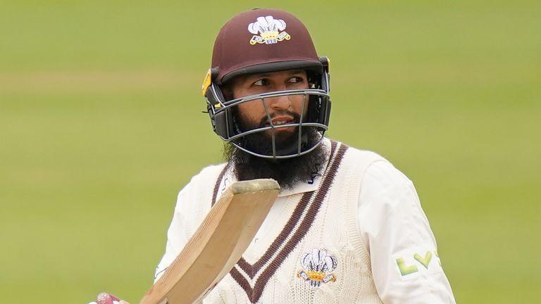 Hashim Amla scored a double century as Surrey dominated Hampshire at The Kia Oval