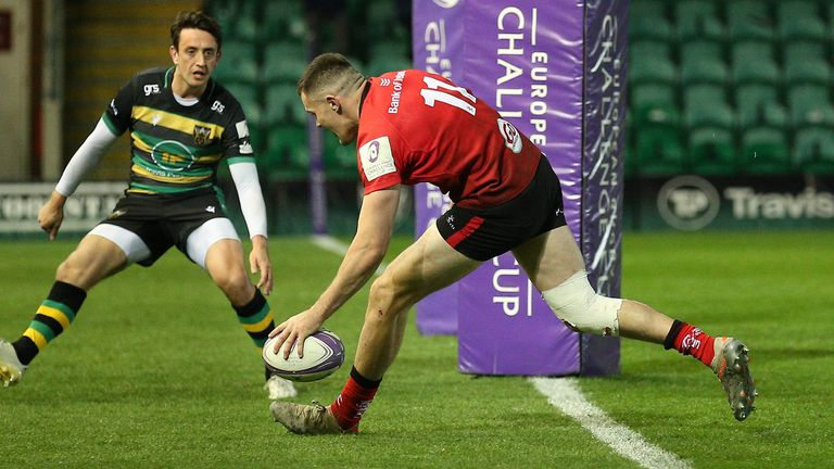 Jacob Stockdale was among the try-scorers for Ulster