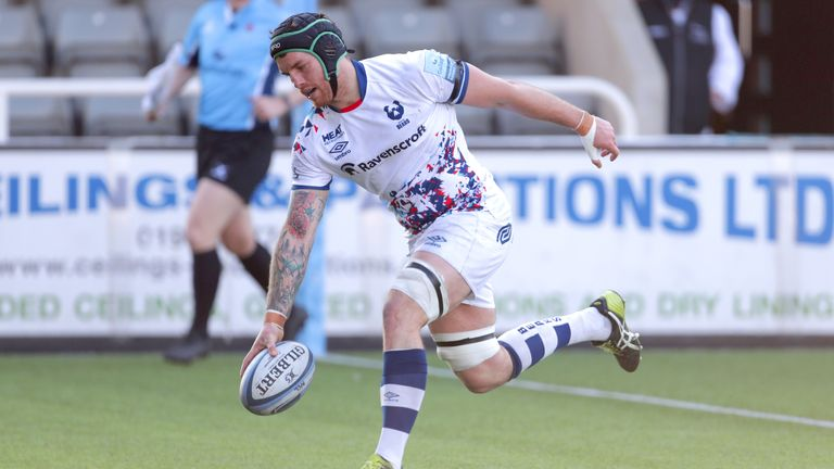 Jake Heenan got over for Bristol's first try after good work from flanker Ben Earl