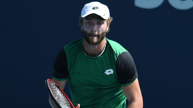 Liam Broady's Sardegna Open run was ended by Jan-Lennard Struff (Courtesy of: mpi04/MediaPunch /IPX)