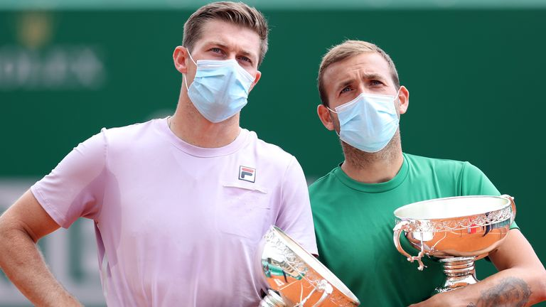 Neal Skupski and Dan Evans lost in the doubles final of the Monte Carlo Masters