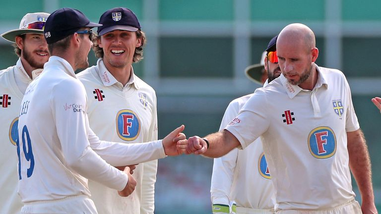 Durham seamer Chris Rushworth is still going strong at the age of 34