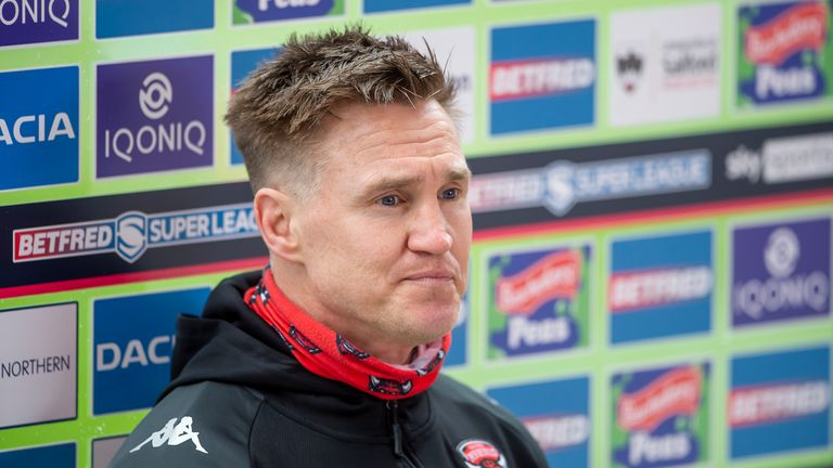 Salford head coach Richard Marshall was unhappy with his side's performance in Perpignan