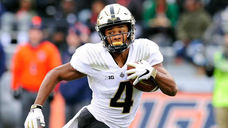 Moore in action against Illinois in October 2018 (Photo by Michael Allio/Icon Sportswire via AP)