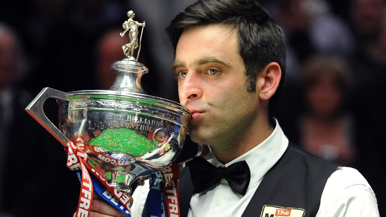 Ronnie O'Sullivan will be aiming to equal Stephen Hendry's mark of seven world snooker titles