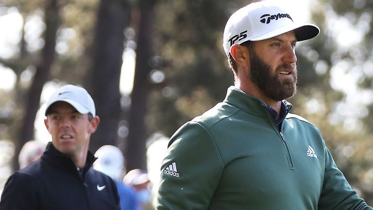 Dustin Johnson and Rory McIlroy are among the players in action this week at The Masters