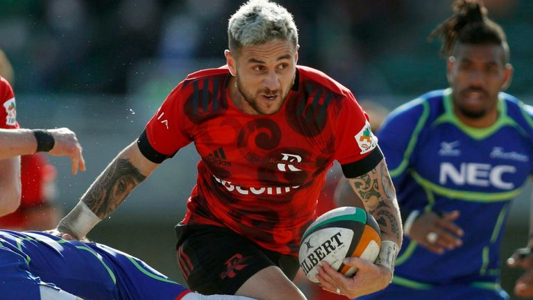 TJ Perenara is currently playing in Japan with NTT Docomo Red Hurricanes