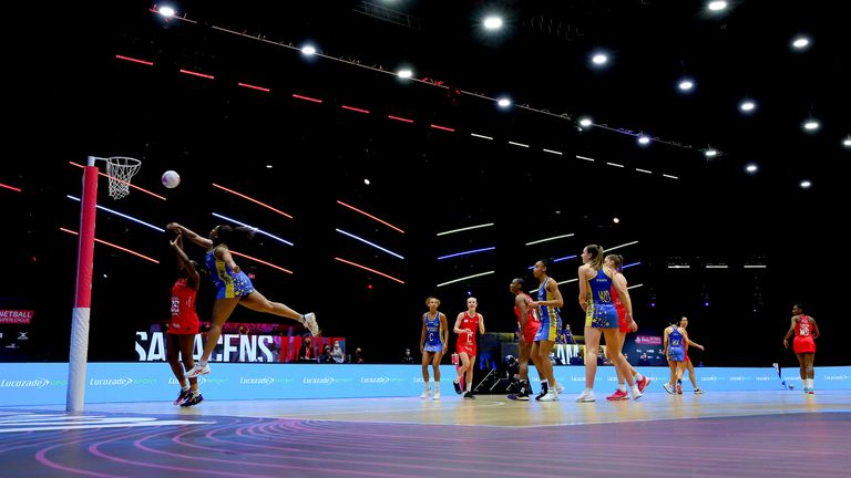 The contest between Saracens Mavericks and Team Bath Netball was one of the best of the season so far (Image Credit - Ben Lumley)