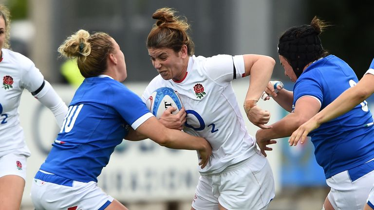 Hunter returned to start at No 8 for England against Italy after 13 months out