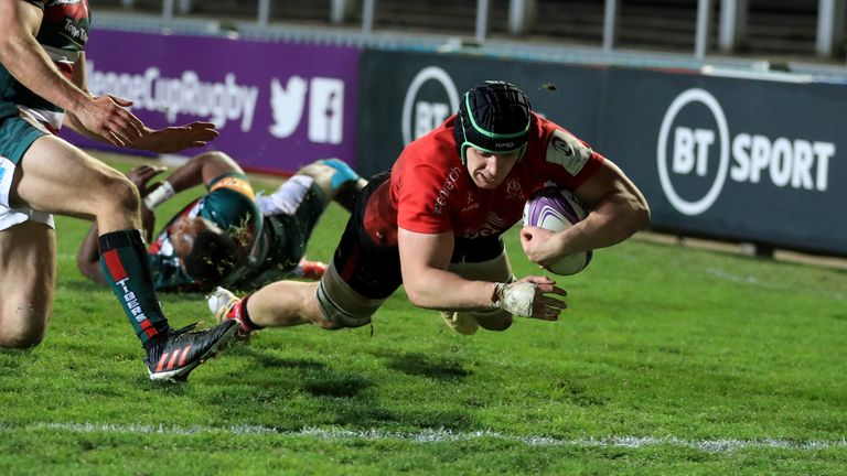 Nick Timoney's sensational effort gave Ulster hope late in the second half